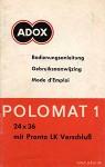 ADOX Polomat 1A Anleitung